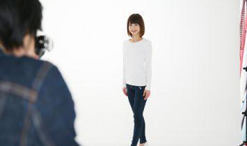 女性のオーディション写真撮影のヘアメイクを担当しました